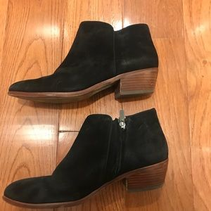 Sam Edelman Suede Ankle Booties 9.5 Wide